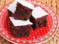 Пухкав кекс с какао и захарен фондан